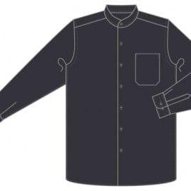 Camisa Cuello Mao Camarero Manga Larga de Marca 1088-CACM ML