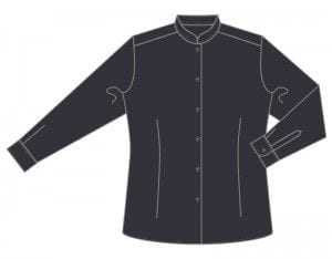 Camisa Cuello Mao Mujer Manga Larga Entallada de Marca 1088-CASM ML