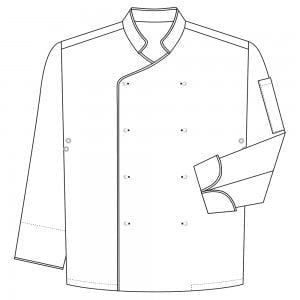 Chaqueta de Cocinero Hombre M/Larga modelo DELUXE de MARCA 1088CCB ML
