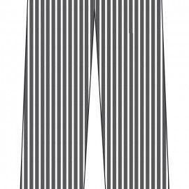 Pantalón de Cocina Unisex Rayas o Cuadros de MARCA 1088PK RAYAS