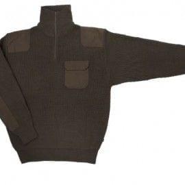 Jersey de Punto Grueso y Cuello Alto de Velilla Serie 101 VERDE CAZA