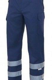 Pantalón Multibolsillos con Cintas Reflectantes de Velilla Serie 159 AZUL MARINO
