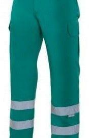 Pantalón Multibolsillos con Cintas Reflectantes de Velilla Serie 159 VERDE