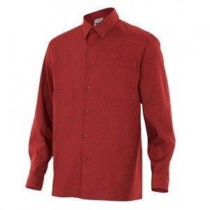 Camisa de Manga Larga de Velilla Serie 529 GRANATE