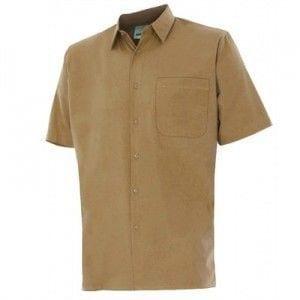 Camisa de Manga Corta de Velilla Serie 531 BEIGE