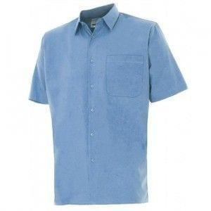 Camisa de Manga Corta de Velilla Serie 531 CELESTE