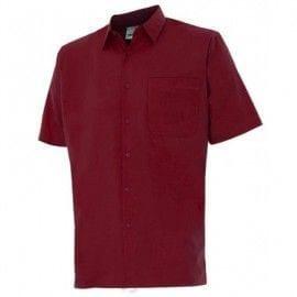 Camisa de Manga Corta de Velilla Serie 531 GRANATE