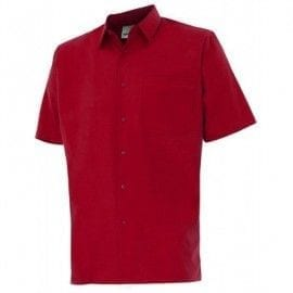 Camisa de Manga Corta de Velilla Serie 531 ROJO