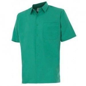 Camisa de Manga Corta de Velilla Serie 531 VERDE