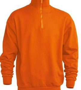 Sudadera Media Cremallera Half Sweatshirt de JHK SWRAZIP NARANJA