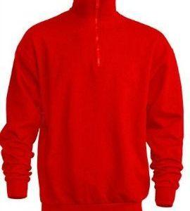 Sudadera Media Cremallera Half Sweatshirt de JHK SWRAZIP ROJO