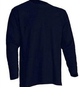 Camiseta manga Larga modelo Regular T-Shirt de JHK TSRA150LS AZUL MARINO