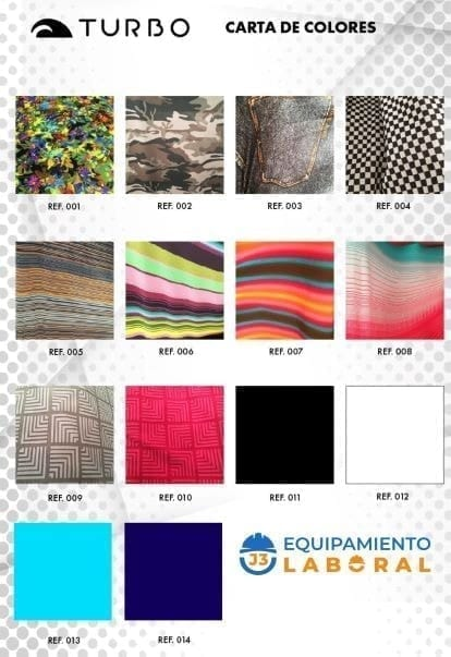 mascarilla turboswim - j3equipamientolaboral carta de colores