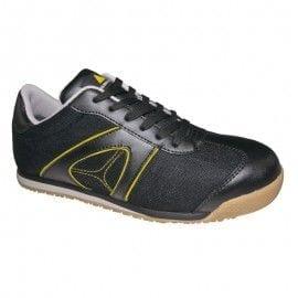 Zapato de seguridad serraje S1P SRC modelo D-SPIRIT de Deltaplus NEGRO