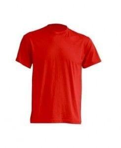 Camiseta manga Corta modelo Regular T-Shirt de JHK TSRA150 ROJO